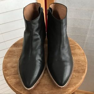 Madewell booties smooth black leather size 7.5